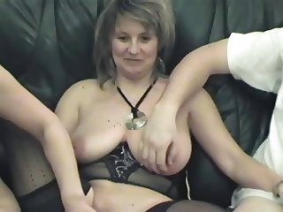 European French Mature Swingers Threesome
