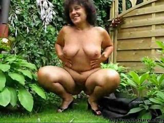 Amateur Chubby Natural Outdoor  Wife