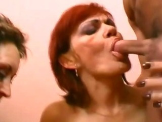 Blowjob Redhead Threesome