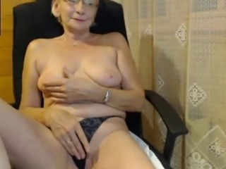Glasses Masturbating Panty  Solo Webcam