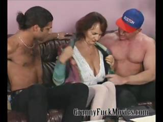 Big Tits Old And Young Threesome