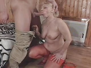 Big Cock Blowjob Chubby European German Old And Young Stockings