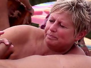 Amateur Handjob Mature Outdoor
