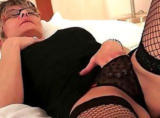 Fishnet Glasses Masturbating Panty