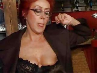 European German Glasses Nipples Redhead