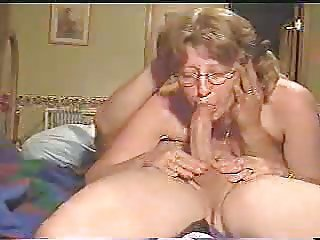 Amateur Blowjob Glasses Homemade Mature Older Wife