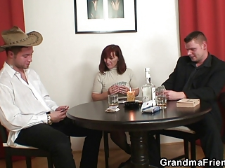 Drunk Family Game Mom Old And Young Threesome
