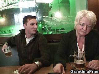 Amateur Drunk Mom Old And Young Public