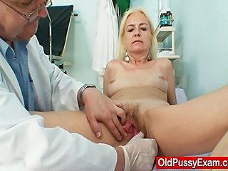 Blonde Doctor Hairy Older Pussy
