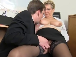 Big Tits Glasses Licking Natural Nipples Stockings Teacher