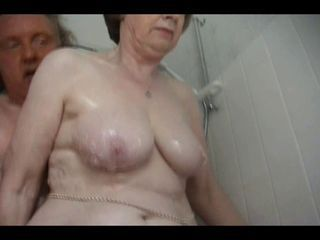 Bathroom Chubby Natural Older  Wife