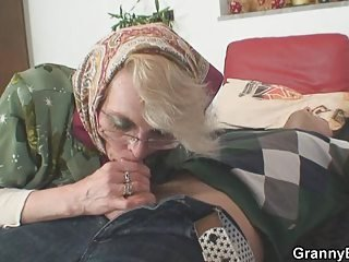 Blowjob Clothed Glasses Mom Old And Young