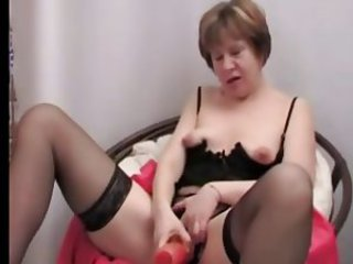 Masturbating Solo Stockings Toy Webcam