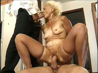 Blowjob Hardcore Old And Young Stockings Threesome