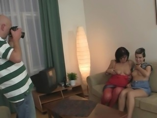 Casting Family Old And Young Stripper Threesome