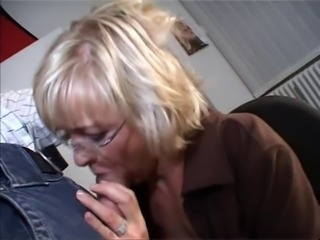 Blowjob European Glasses Mature Office Secretary