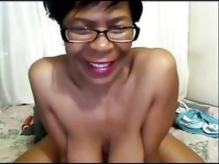 Big Tits Ebony Glasses Natural  Solo Webcam