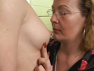 Glasses Lesbian Mature Mom Nipples Old And Young Piercing