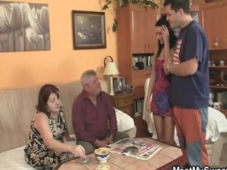 Family Groupsex Mom Old And Young Smoking