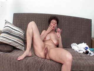 Dildo Masturbating Pussy  Shaved Solo Toy
