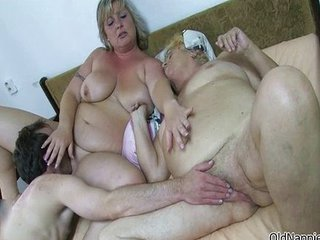 Big Tits Family Licking Natural Old And Young Threesome