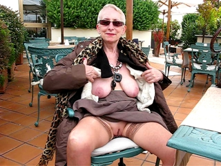 Amateur Outdoor Public  Stockings Stripper Wife