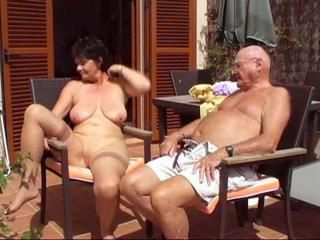 Amateur Big Tits Natural Older Outdoor  Shaved Wife