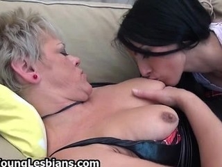 Lesbian Mature Mom Nipples Old And Young