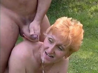 Cumshot Outdoor Redhead Swallow