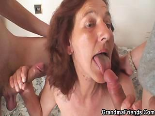 Blowjob Family Mom Old And Young Skinny Threesome