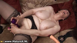 Big Tits Masturbating Natural Orgasm Stockings Toy