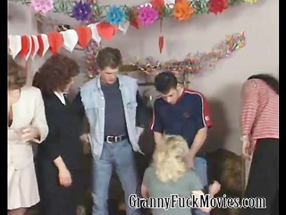 Blowjob Clothed Groupsex Old And Young Orgy Party