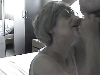 Cumshot Glasses Older Swallow Webcam Wife