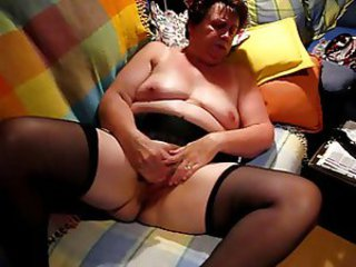 Amateur  Homemade Masturbating Stockings