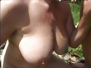 Amateur Big Tits Cumshot Natural Outdoor