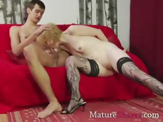 Blowjob Mom Old And Young Shaved Stockings