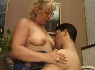 Blonde European Glasses Italian Licking Nipples Old And Young Teacher