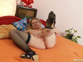 Chubby Masturbating Pussy Solo Stockings