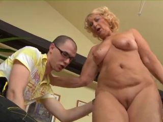 Blonde Chubby Mom Old And Young  Shaved
