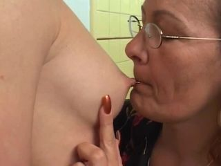 Glasses Lesbian Licking Nipples Old And Young