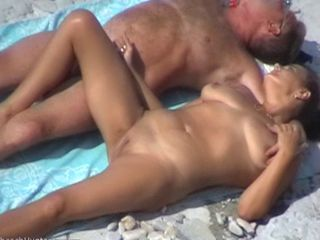 Amateur Beach Nudist Older Outdoor  Shaved Wife