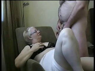 Amateur Glasses Homemade Older Wife