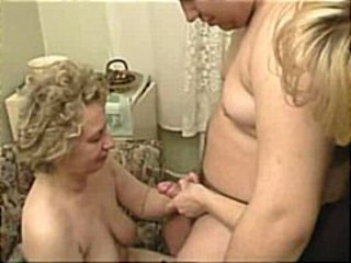 Amateur Family Mom Old And Young  Small Cock Threesome