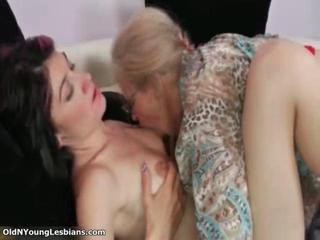 Glasses Lesbian Licking Old And Young