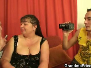Casting Mom Old And Young Threesome