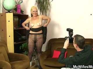 Blonde Casting Mom Old And Young Pantyhose