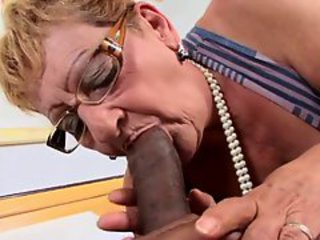 Big Cock Blowjob Glasses Interracial
