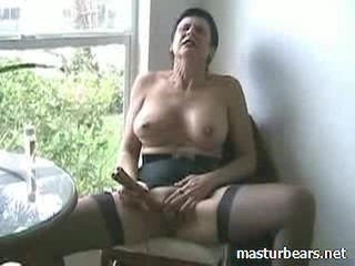 Amateur Big Tits Homemade Masturbating Orgasm Solo Stockings Toy