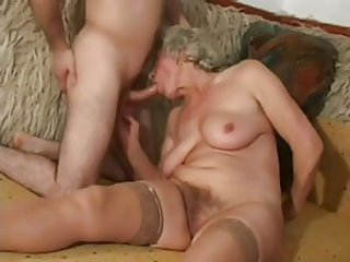 Blowjob Hairy Mom Old And Young  Stockings