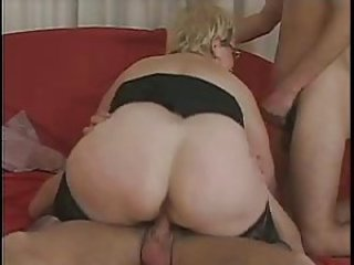 Ass  Glasses Old And Young Riding Threesome